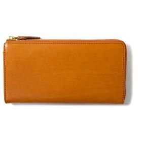 アルゼンチンレザー L字型長財布 - Orange Camel -