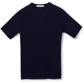 ESTNATION / 半袖フライスニットソー ネイビー/LARGE(エストネーション)◆メンズ Tシャツ/カットソー