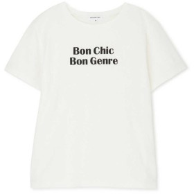 【公式/NATURAL BEAUTY BASIC】[洗える]フレンチロゴTシャツ/女性/Tシャツ/BonChic/サイズ:M/コットン 100%