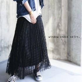 ボトムス スカート チュール プリーツスカート チュールスカート・8月10日20時〜再再販。「G」##メール便不可