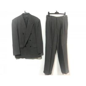 【中古】 ムッシュニコル monsieur NICOLE ダブルスーツ サイズ50 メンズ グレー