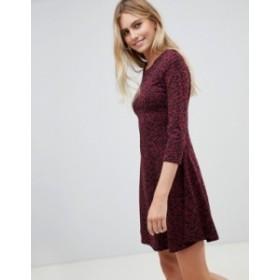ニュールック レディース ワンピース トップス New Look Animal Print Swing Dress Red pattern