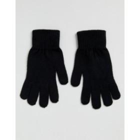 エイソス メンズ 手袋 アクセサリー ASOS DESIGN touchscreen gloves in black Black