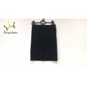 レキップ ヨシエイナバ スカート サイズ38 M レディース 美品 黒×ネイビー   スペシャル特価 20190728