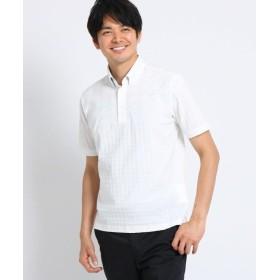 【40%OFF】 タケオキクチ ドライタッチコットン リンクスパネルポロシャツ メンズ ホワイト(001) 03(L) 【TAKEO KIKUCHI】 【セール開催中】