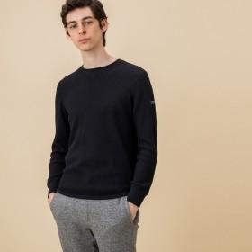 AIGLE メンズ メンズ 吸水速乾 ワッフル 長袖Tシャツ ZTH028J NOIR (005) Tシャツ