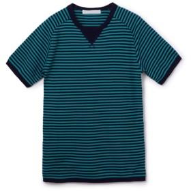 ESTNATION / 半袖フライスニットソー アクア/SMALL(エストネーション)◆メンズ Tシャツ/カットソー
