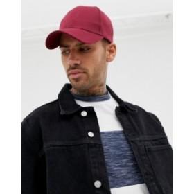 エイソス メンズ 帽子 アクセサリー ASOS DESIGN baseball cap in burgundy Burgundy