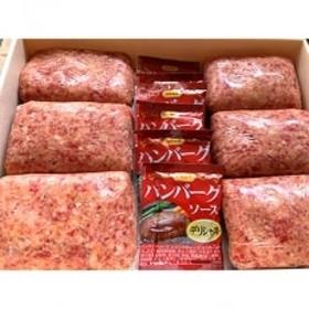 鹿児島黒牛ハンバーグ6個入(ソース6個付き)