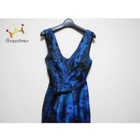 エイソス ASOS ドレス サイズUS6 M レディース 美品 ブルー×ネイビー×黒 花柄/プリーツ 新着 20190425
