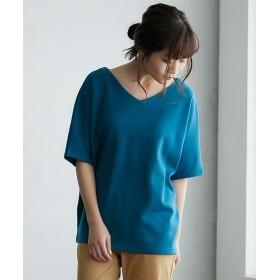 透けにくいポンチドルマントップス (Tシャツ・カットソー)(レディース)T-shirts