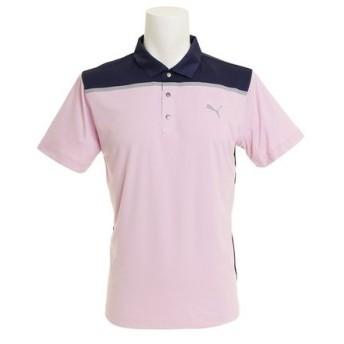 プーマ(PUMA) ゴルフウェア メンズ 【ゼビオ限定】 カラーブロック半袖ポロシャツ 579154-04 (Men's)