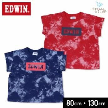 セール エドウイン エドウィン EDWIN ベビー キッズ 子供服 半袖 Tシャツ ボックス ロゴ 男の子 19夏 80 90 95 100 110 120 130cm