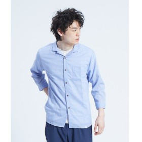 ABAHOUSE / アバハウス 【展開店舗限定】チビ襟 リネン 7分袖シャツ