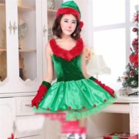 クリスマス コスプレ クリスマスツリー レディース ふわもこツリーちゃん サンタ トナカイ サンタクロース