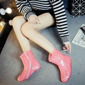 レインブーツ 長靴 レインシューズ ショートブーツ レディース ブーツ ショート 雨靴 全店2点送料無料