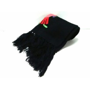 キャシャレル cacharel マフラー レディース 新品同様 黒 化学繊維【中古】
