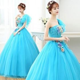 ウェディングドレス 二次会 ウエディングドレス カラードレス ロング 二次会ドレス パーティードレス ロングドレス イブニングドレス 大