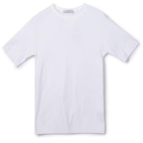 ESTNATION / 半袖フライスニットソー ホワイト/MEDIUM(エストネーション)◆メンズ Tシャツ/カットソー