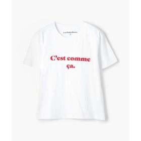 TOMORROWLAND / トゥモローランド Les Petits Basics コットン フロッキープリントTシャツ