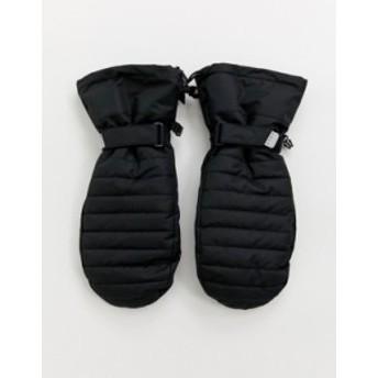 エイソス メンズ 手袋 アクセサリー ASOS 4505 ski mittens in black Black
