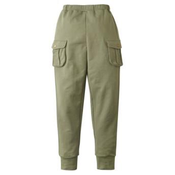 綿100%ミニ裏毛カーゴロングパンツ(男の子。女の子 子供服。ジュニア服) パンツ