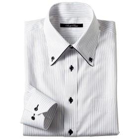 50%OFF【メンズ】 形態安定デザインYシャツ (すっきりシルエット) ■カラー:ストライプ ■サイズ:45(裄丈86),39(裄丈78)