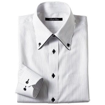 50%OFF【メンズ】 形態安定デザインYシャツ (すっきりシルエット) ■カラー:ストライプ ■サイズ:39(裄丈78),45(裄丈86)