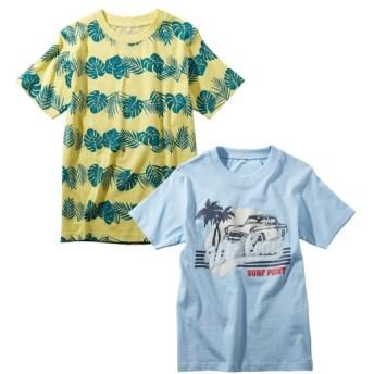 綿混 プリント半袖Tシャツ2枚組(男の子 子供服。ジュニア服) Tシャツ・カットソー