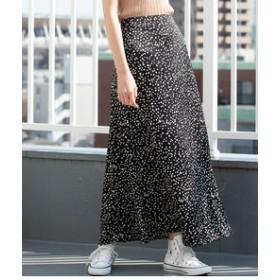 【SALE/送料無料】【ViS:スカート】【WEB限定】アニマル柄ロングスカート