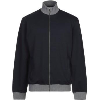 《期間限定セール開催中!》BIKKEMBERGS メンズ スウェットシャツ ダークブルー S コットン 95% / ポリウレタン 5%