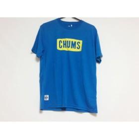 【中古】 チャムス CHUMS 半袖Tシャツ サイズS メンズ ブルー イエロー ニット