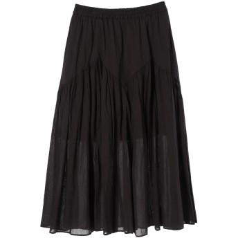 【5,000円以上お買物で送料無料】ジグザグ切替ギャザースカート