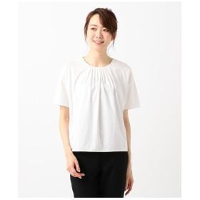 自由区 【洗える】PREMIER SMOOTH カットソー Tシャツ・カットソー,ホワイト系