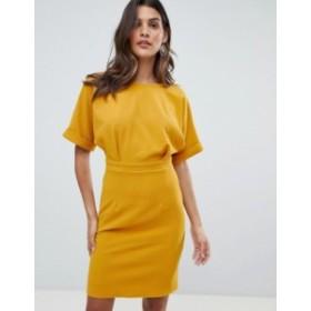 エイソス レディース ワンピース トップス ASOS DESIGN wiggle mini dress Mustard