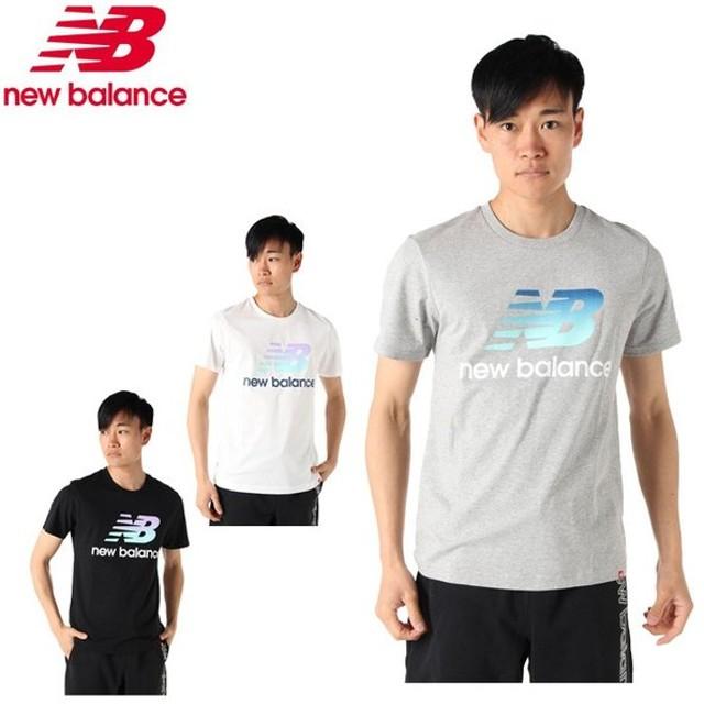 f491dc1e0386d ニューバランス Tシャツ 半袖 メンズ LS グラデスタックドロゴ AMT91580 new balance