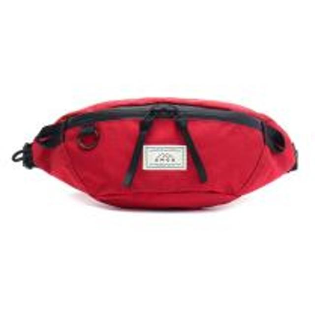 アモア ウエストバッグ AMOA ウエストポーチ 斜めがけ 小さめ HALFBALL 防水 アウトドア カジュアル 軽量 ナイロン メンズ レディース AM04 RED