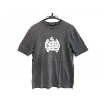 【中古】 バーバリーブラックレーベル 半袖Tシャツ サイズ3 L メンズ ダークグレー 白