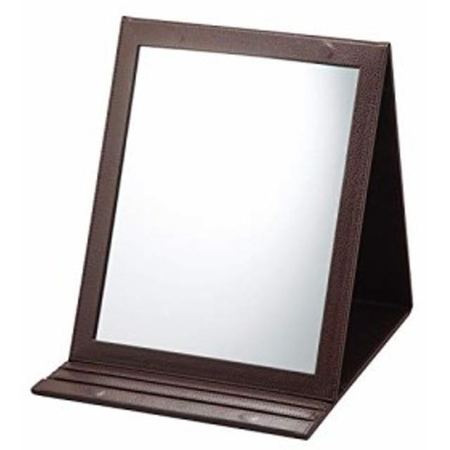 新品 折立鏡デカミラー 角度調整5段階 卓上 A4サイズ メイク 化粧 おりたたみ 在庫限り