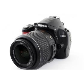 ニコン Nikon D3000 レンズキット ブラック 極上美品 一眼レフ始めるならこれ 8GB新品SDカード、元箱付き
