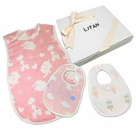 出産祝い ベビーギフトセット スリーパー スタイ2枚 箱入り リボン付き 新生児用 女の子セット