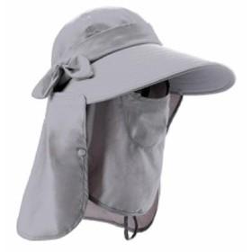 日よけ帽子 UVカット 女性用 日除け帽 日焼け止め 顔ガード アウトドア 農作業 ガーデニング 庭 紫外線対策に 360度全部カバー ハット