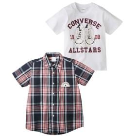 【コンバース】トップス2点セット(半袖シャツ+半袖Tシャツ)(男の子 子供服 ジュニア服) シャツ・ブラウス