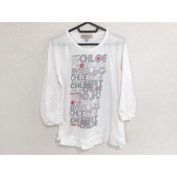 【中古】 シーバイクロエ SEE BY CHLOE 長袖Tシャツ サイズUSA 6 レディース 白 ライトグレー レッド