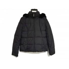 【中古】 エニシス anySiS ダウンコート サイズ2 M レディース 黒 マルチ ジップアップ/ファー/冬物