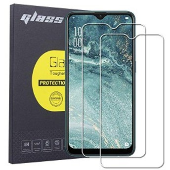 OPPO 硬度9H ... AX7 高透過率 指紋防止 液晶保護強化ガラスフィルム ガラスフィルム[2枚セット] AX7 気泡ゼロ