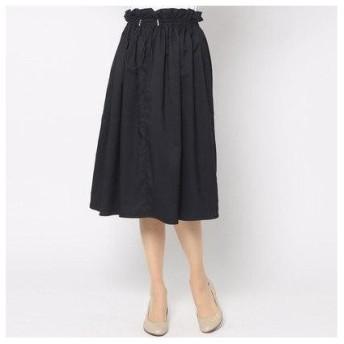 コムサイズム COMME CA ISM ドロスト ギャザースカート (ネイビー)