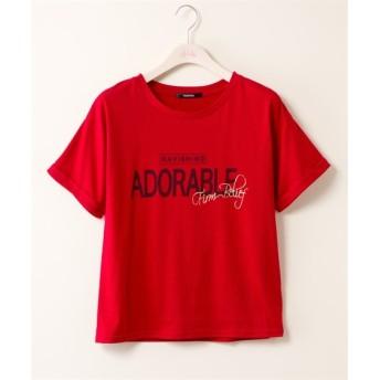 ヴィンテージ風プリントTシャツ【PENDORA】 (大きいサイズレディース)Tシャツ・カットソー