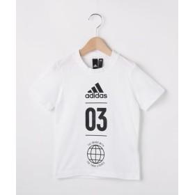 ハッシュアッシュキッズ adidas バックメッシュTシャツ(一部店舗・WEB限定) レディース ホワイト(001) 13(130cm) 【HusHusH(kids)】