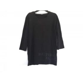 【中古】 バーバリーブラックレーベル Burberry Black Label 長袖Tシャツ サイズ2 M レディース 黒